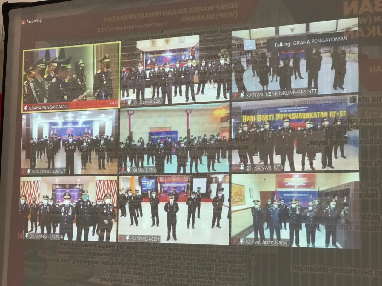 Virtual Meeting Lapas Nunukan