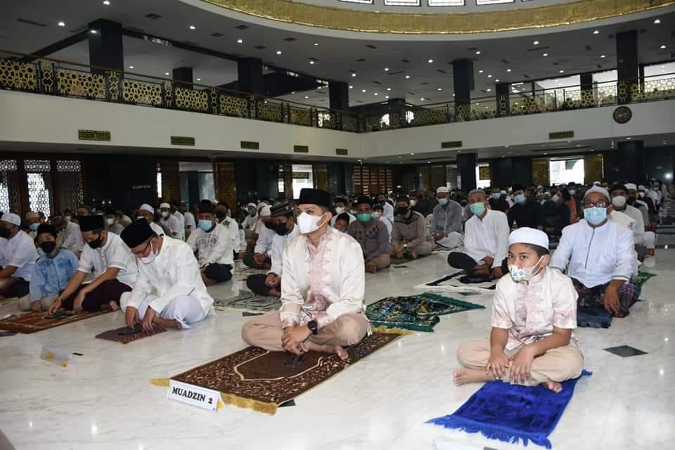 Sholat Idul Fitri di Islamic Centre Nunukan