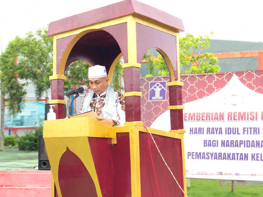 Sholat Idul Fitri di Lapas
