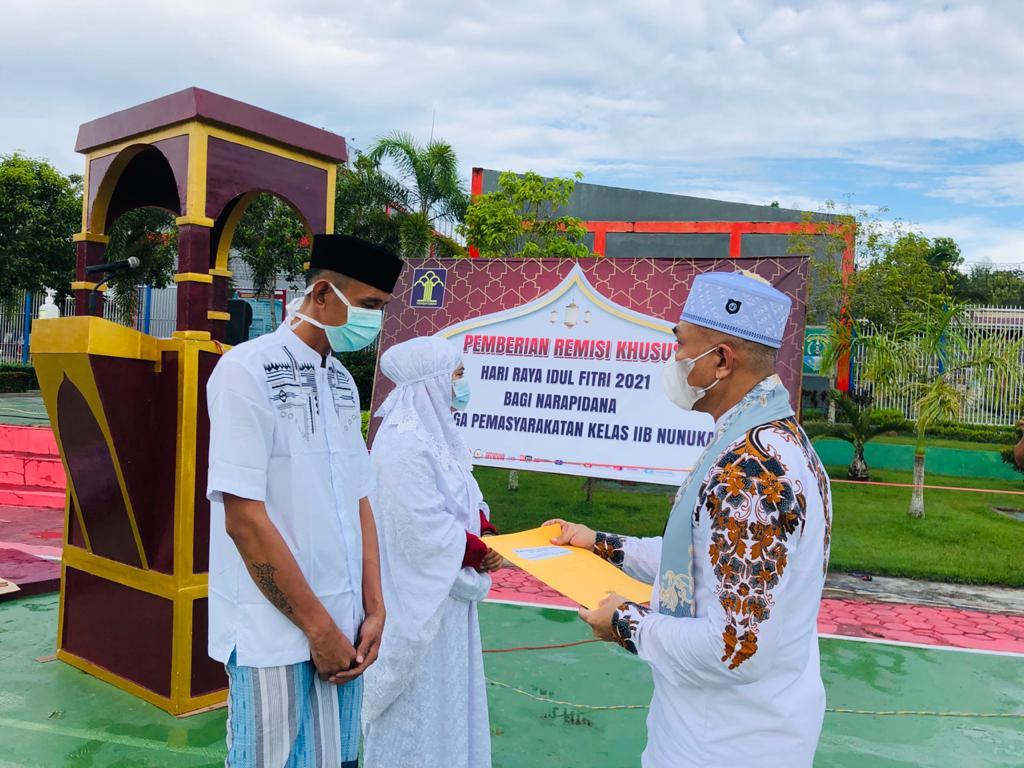 Sholat Idul Fitri di Lapas Nunukan