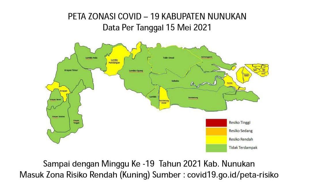 Peta Zonasi Covid 19 Di Kabupaten Nunukan