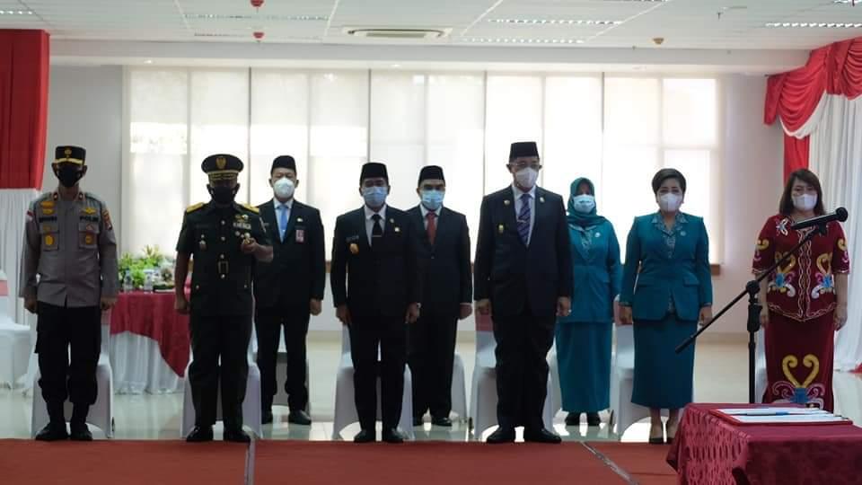 Suasana Pelantikan Bupati dan Wakil Bupati Nunukan di Kantor Gabungan Dinas Tanjung Selor Kalimantan Utara.