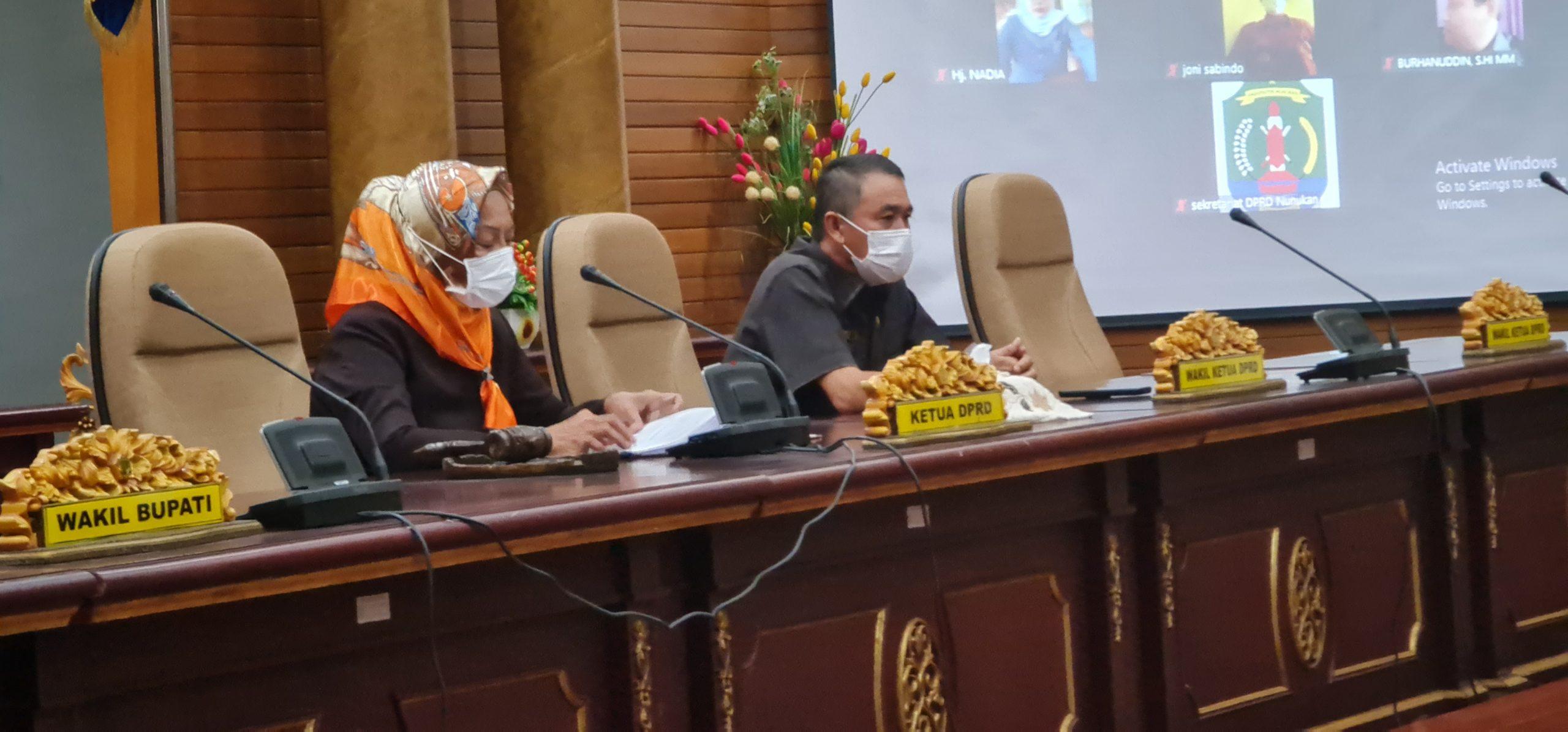 Rapat Paripurna Penyampaian KUA PPAS 2022 Dipimpin Ketua dan Wakil Ketua DPRD Nunukan