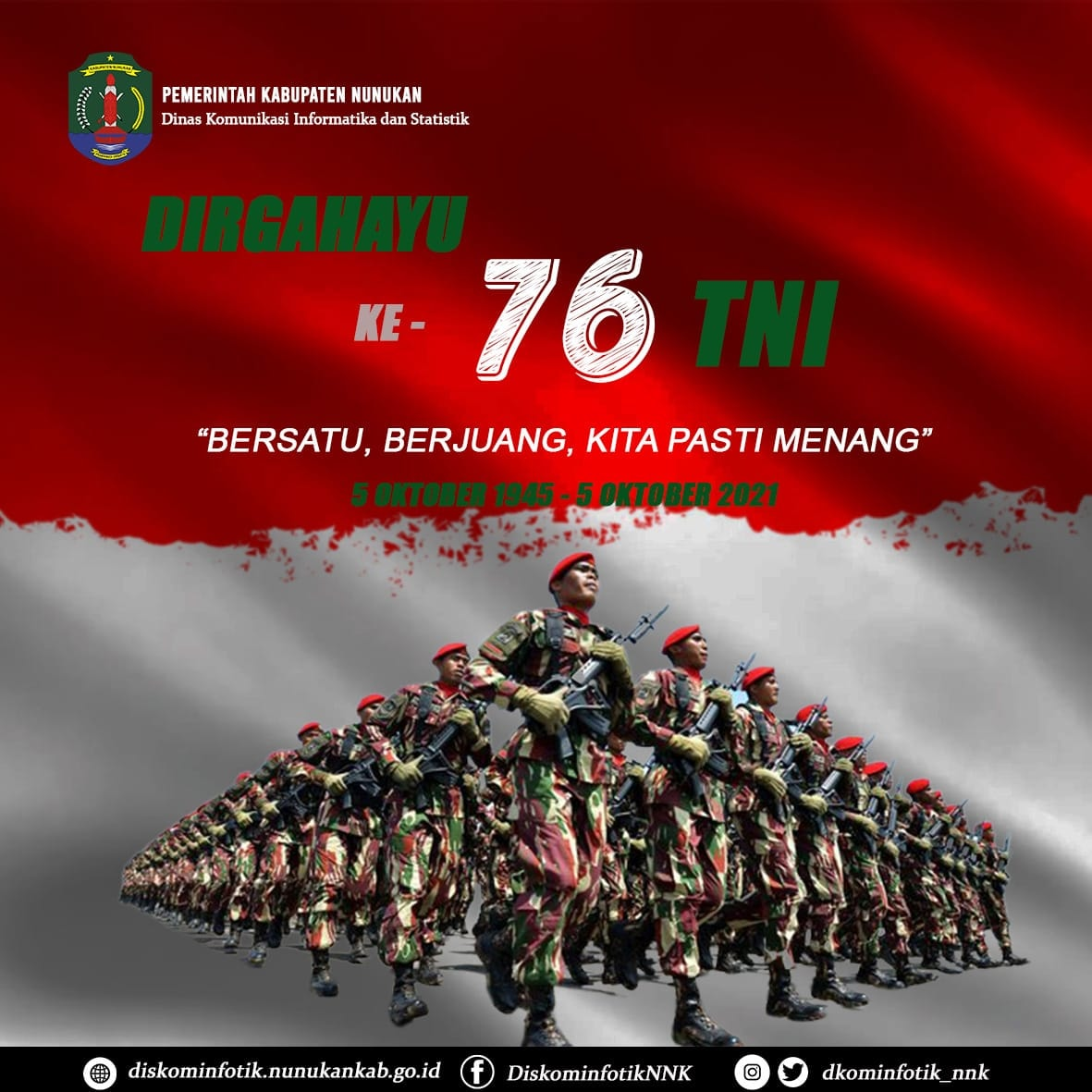 Ucapan HUT TNI ke 76